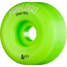 Mini Logo Skateboard Wheel A-cut 52mm 101A Green 4pk