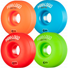 Mini Logo Skateboard Wheel C-cut 54mm 101A Assorted 4pk