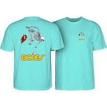 Powell Peralta Skateboarding Skeleton T-shirt Turquoise
