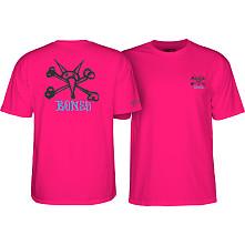 Powell Peralta Rat Bones Youth T-shirt Hot Pink