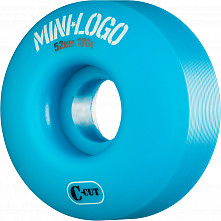 Mini Logo Skateboard Wheel C-cut 52mm 101A Blue 4pk