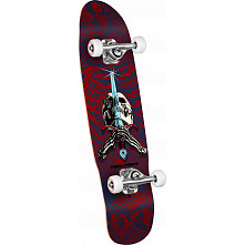 Powell Peralta Mini Skull and Sword Complete Skateboard Blue/Red - 8 x 30