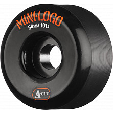 Mini Logo Skateboard Wheel A-cut 54mm 101A Black 4pk