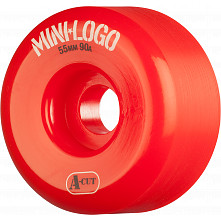 Mini Logo Skateboard Wheel A-cut 55mm 90A Red 4pk