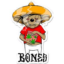 BONES WHEELS Weedy Sticker Single