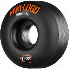 Mini Logo Skateboard Wheel C-cut 52mm 101A Black 4pk