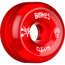 BONES SPF Clear Red 54x31 P5 Skateboard Wheel 84B 4pk