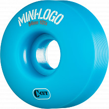 Mini Logo Skateboard Wheel C-cut 54mm 101A Blue 4pk
