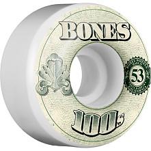 BONES 100's OG Formula 53x34 V4 Skateboard Wheel 100a 4pk