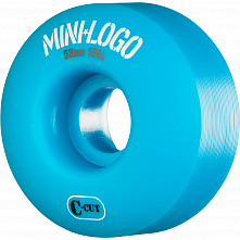 Mini Logo Skateboard Wheel C-cut 53mm 101A Blue 4pk