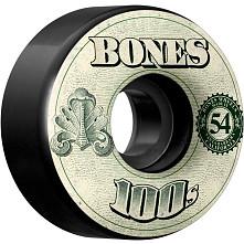 BONES 100's OG Formula 54x34 V4 Skateboard Wheel 100a 4pk Black