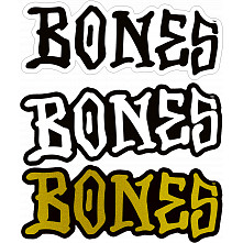 "BONES WHEELS 3"" BONES Sticker 20pk"