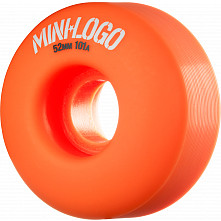 Mini Logo Wheel C-cut 52mm 101A Orange 4pk