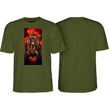 Powell Peralta Pro Brad McClain Pilot T-shirt Military Green