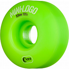 Mini Logo Skateboard Wheel C-cut 53mm 101A Green 4pk