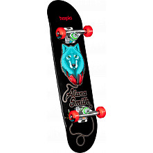 hoopla Alana Smith Wolf Complete Skateboard Black - 7.5 x 28.65