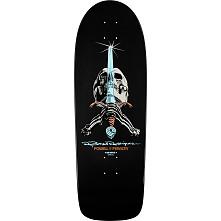 Powell Peralta Rodriguez Skull and Sword Skateboard Deck Gunmetal - 10 x 30