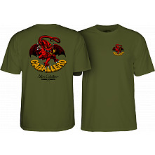 Powell Peralta Cab Dragon II T-shirt Military Green