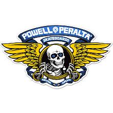 "Powell Peralta Winged Ripper 5"" Die-Cut Sticker 20pk- BLUE"