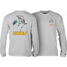 Powell Peralta Skateboarding Skeleton L/S Shirt Gray