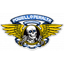 "Powell Peralta Winged Ripper 5"" Die-Cut Sticker Single - BLUE"