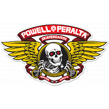 "Powell Peralta Winged Ripper 5"" Die-Cut Sticker Single - RED"