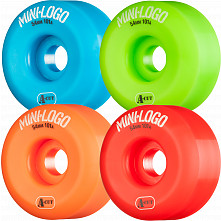 Mini Logo Skateboard Wheel A-cut 54mm 101A Assorted 4pk