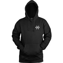 BONES WHEELS Hooded Sweatshirt Cross Bones Black