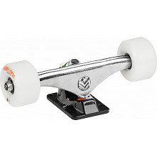 "Mini Logo 7.63"" Rough Polished/Black Trucks + ML Bearings + A-cut 53mm x 90a White Wheels"