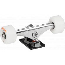 "Mini Logo 8.0"" Rough Polished/Black Trucks + ML Bearings + A-cut 53mm x 101a White Wheels"