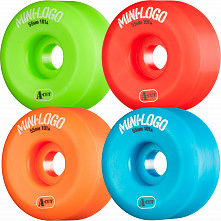 Mini Logo Skateboard Wheel A-cut 55mm 101A Assorted 4pk