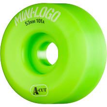 Mini Logo Skateboard Wheel A-cut 53mm 101A Green 4pk