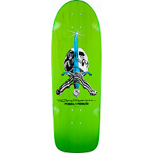 Powell Peralta Rodriguez Skull and Sword OG Skateboard Blem Deck Green - 10 x 30