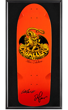 Bones Brigade® Shadowbox Caballero Blem Skateboard Deck Signed by GAP/Stacy