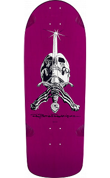 Powell Peralta Rodriguez Skull and Sword Deck Purple - 10 x 28.25