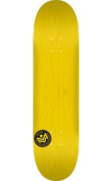 "MINI LOGO CHEVRON STAMP ""12"" SKATEBOARD DECK 112 YELLOW - 7.75 X 31.75"