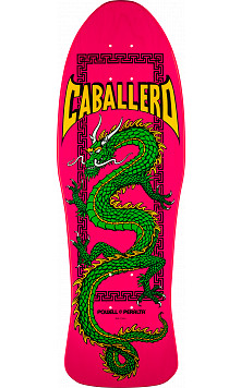 Powell Peralta Caballero Chinese Dragon Skateboard Deck Pink - 10 x 30