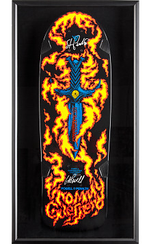 Bones Brigade® Shadowbox Guerreo Blem Skateboard Deck Signed by GAP/Stacy