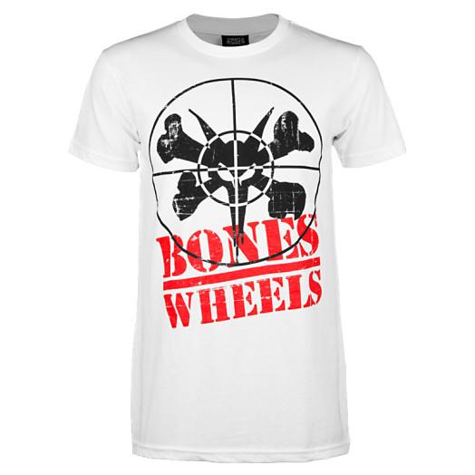 BONES WHEELS Enemy T-shirt - White
