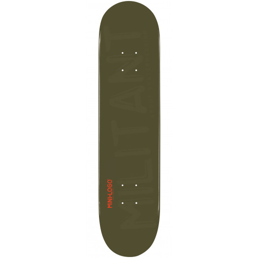 Mini Logo Militant Skateboard Deck 126 Green - 7.625 x 31.625