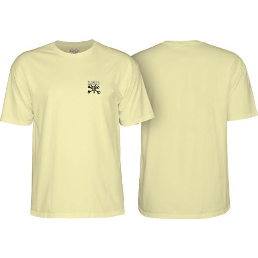 BONES WHEELS Chester T-shirt Yellow