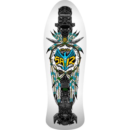 Powell Peralta Saiz Totem Skateboard Blem Deck White - 10 x 30.81