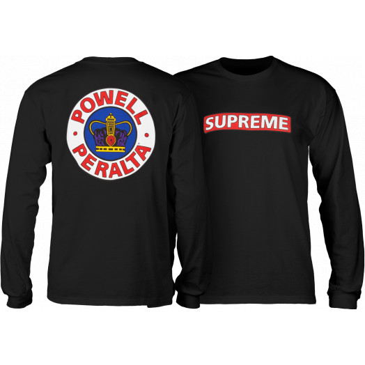Powell Peralta Supreme L/S Shirt Black