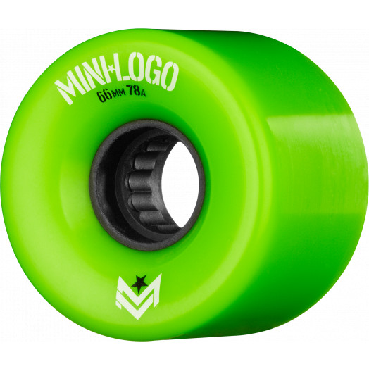 Mini Logo A.W.O.L. A-cut Green 66mm 78A 4pk