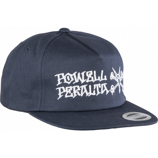 Powell Peralta Rat Bones Snap Back Cap Navy