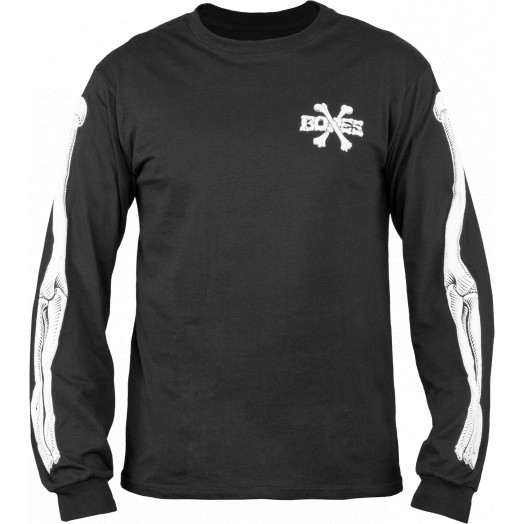 BONES WHEELS LS Cross Bones Shirt Black