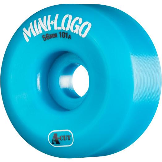 Mini Logo Skateboard Wheel A-cut 56mm 101A Blue 4pk
