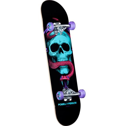 Powell Peralta Blacklight Skull & Snake Purple Complete Skateboard - 7.625 x 31.625