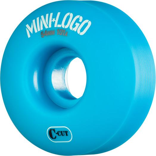 Mini Logo Skateboard Wheel C-cut 54mm 101A Blue 4pk