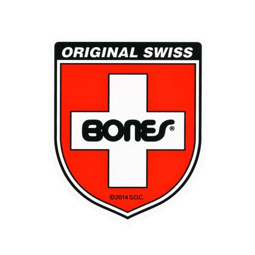 Bones Swiss Bearing Shield Sticker Small single